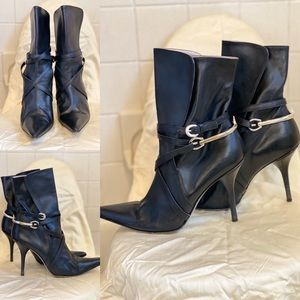 Michael Kors Black Leather Boots